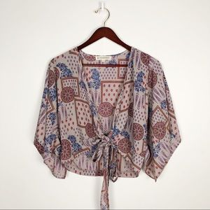 BY TOGETHER FLORAL PRINT KIMONO